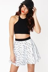 Dotted Line Skirt