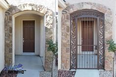 Debussy - Wrought Iron Entry - Before & After - Model: EW0326