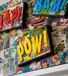 DIY superhero canvas
