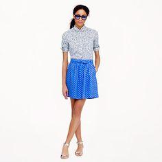 Linen Skirt in Polka Dot