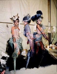 BACKSTAGE JOHN GALLIANO FOR CHRISTIAN DIOR #belle #epoque