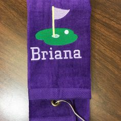 Perfect towel for any lady golfer!! Golf towels in any colors. Custom made to order.