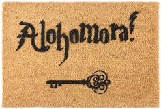 Artsy Doormats - Alohomora Door Mat #HarryPotter #AffiliateLink