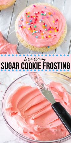 Easy Sugar Cookies, Sugar Cookies Recipe, Cookie Recipes, Sugar Cookies With Frosting, Icing For Shortbread Cookies, Frosting For Christmas Cookies, Frosted Christmas Cookies, Frosted Cookies, Frosting Recipes
