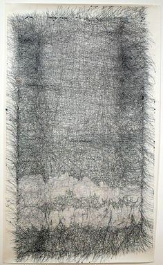 Peter Foucault, Bridge, drawing, ink on paper, 44″x72″, 2008