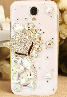 Clear phone case with diamonds love it!