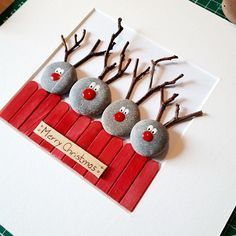 to work on my first Christmas orders. I guess many more are coming soon Started to work on my first Christmas orders. I guess many more are coming soon.Started to work on my first Christmas orders. I guess many more are coming soon. Easy Christmas Crafts, Diy Christmas Ornaments, Christmas Projects, Simple Christmas, Kids Christmas, Handmade Christmas, Fun Projects, Christmas Pebble Art, Reindeer Christmas