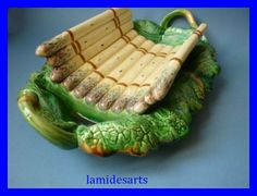 antique french dishes | ANTIQUE FRENCH MAJOLICA ASPARAGUS DISH CREIL MONTEREAU X 23, Asparagus Dishes, French Antiques, Tableware, Majorca, Dish, Dinnerware, Dishes