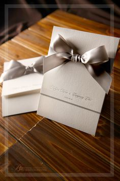 Classic Borders with a Jacket by B Wedding Invitations