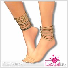 Market Way: Gold Anklets - Casual Lies 15L!!!
