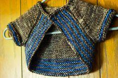 Curve by Terri Kruse. malabrigo mecha, Plomo and Azul Fresco colorway.
