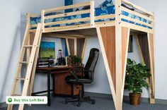 TimberNest loft beds. Quality loftbeds for home and college.
