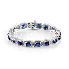 Liquidation Channel: Himalayan Kyanite and Diamond Bracelet in Platinum Overlay Sterling Silver (Nickel Free)