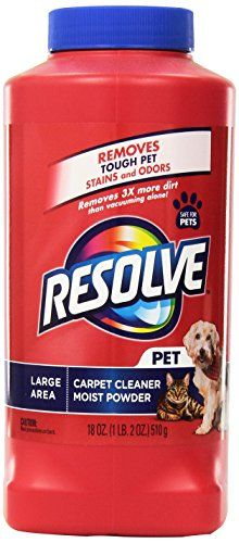 Resolve Pet Expert Carpet Cleaner Powder - Eliminates Dirt and Odors - Removes 3X More Pet Hair, 18 oz ** Check this awesome image @