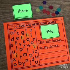 Decomposing Math Center Activities - A Kinderteacher Life The Effective Pictures We Offer You About Montessori Activities shapes A quality picture can tell you many things. You can find the most beaut Preschool Sight Words, Teaching Sight Words, Sight Word Practice, Sight Word Spelling, Grade Spelling, Sight Word Activities, Reading Activities, Teaching Reading, Word Games