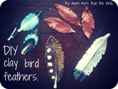 diy salt clay feathers  #jewelry #cheap #easy