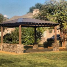 Custom Outdoor Covered Patio Space  Southern Hardscapes 334-593-1487 Southernhardscapesal.com