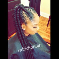 "☆Braided Ponytail☆ Book appointments at www.drickahair.com  SHARE/REPOST & TAG 3 FRIENDS ""I do it ALL! Natural haircare and styles, silk presses, treatments, hair growth, sewins, frontal and closure installs, haircuts, braids, color, quickweaves, bobs, shortstyles, and more.. also offer Virgin Hair, Full Lace Wigs, Frontals, Closures, and Lace Front Wigs!"" #feedinbraidsatlanta #feedinbraidsatl #braids #atlbraids #atlantabraids #teamnatural #knotlessbraids #protectivestyle #bananabraids…"