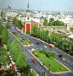 Foto de la Alameda Bernardo O'higgins de Santiago de Chile en el 1968.