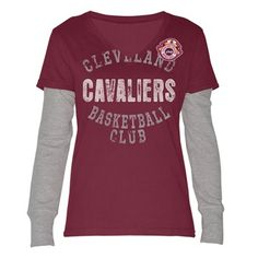 Cavaliers Ladies Run and Shoot Layered Long Sleeve Tee $35 NEW