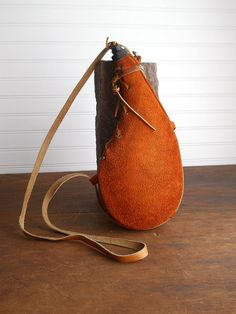 Vintage Water Canteen with Suede Cover Bota Bag by whatnotsandsuch, $20.00