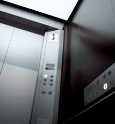 This elevator design was made keeping people with disabilities in mind. It has lights flashing so it can be accessible to someone who is deaf. For someone who has a visually impairment, it has noises for each floor, braille next to each button, and popped out numbers in case the person does not know how to read braille. For someone who uses a wheelchair, it has buttons for the floors on the side for easier access. This elevator is awesome!