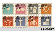 Icon set - Iconset: Social Media Stamps - Zizaza item for free