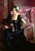 Clotilde in an Evening Dress, 1910, Joaquin Sorolla y Bastida.