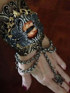 Vintage Inspired Cuff Bracelet by cosmiksouls on Etsy, $350.00 #gothic princess