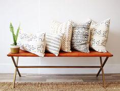 Image result for mud cloth pillows interior design