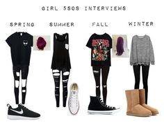 """""""Girl 5sos Interviews Seasons"""" by dugger-lindsey on Polyvore featuring beauty, Topshop, WithChic, Solid & Striped, Paige Denim, Gap, UGG Australia, Converse and NIKE"""