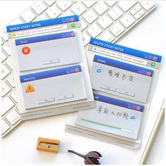 0.86$  Know more - Computer System Sticky Notes Office Stationery Memo Pads Post It Kawaii Stickers Scrapbooking Diary Planner  60Sheets for School   #SHOPPING