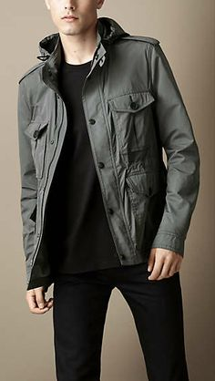 Grey Lightweight Field Jacket. Burberry.