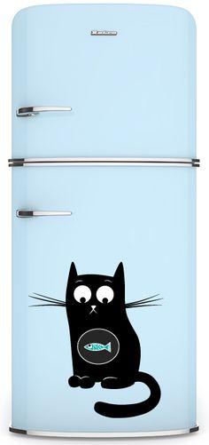 Magnets on refrigerators.