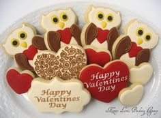 Valentine owl cookies | Cookie Connection