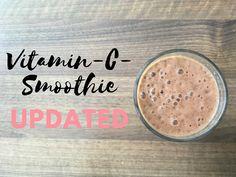 Was ist rosa, schmeckt nach Erdbeeren und Orange und enthält trotzdem Grünzeug? Dieser Smoothie enthält nicht nur jede Menge Vitamin C, sondern auch Spinat.
