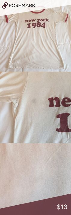 Brandy Melville Tee Never worn vintage New York tee bought from Brandy Melville. There are some almost unnoticeable stains which I pictured. Not sure what they're from since I've never worn it. OFFERS WELCOMED. Brandy Melville Tops Tees - Short Sleeve