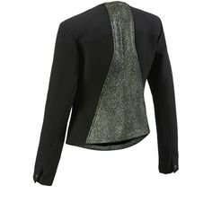 Media Jacket cabi ❤ liked on Polyvore featuring outerwear, jackets, print jacket, pattern jacket and cabi