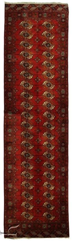 Central Asian Rug - Bokhara Carpet  Width105.00 cm (3,44 Feet) Lenght375.00 cm (12,30 Feet)