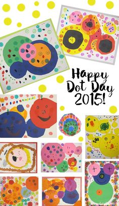 Art Project for Dot Day (Art is Basic) Another Dot Day has come and gone. I've seen lots of dot projects all over the internet already. Here is what my kindergartners made this year. You can read all of the lesson details on this previous Kindergarten Art Lessons, Art Lessons Elementary, Pre Kindergarten, Elementary Education, The Dot Book, International Dot Day, E Mc2, Circle Art, Kandinsky