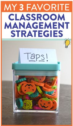 Want to know my top THREE favorite classroom management strategies for elementary students?! Head over to this post to see how a few erasers, a little conversation and some light music will help you create a calm, respectful classroom.