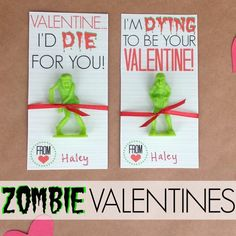 Zombie Valentines Day Cardsubmitted to InspirationDIY.com