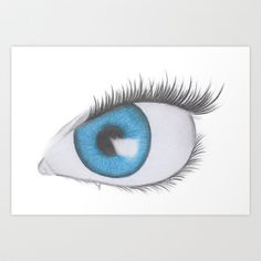 Blue Eye Art Print by Miguel Angel - $15.00