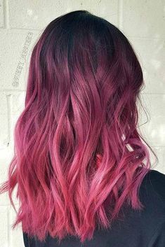 30 Purple Red Hair Is The New Black red ombre on black hair - Ombre Hair Brown Hair Dyed Red, Dark Red Hair With Brown, Black Hair Ombre, Purple Ombre, Red Black, Pink Purple Hair, Bright Purple, Red Hair Bright Cherry, Dark Purple