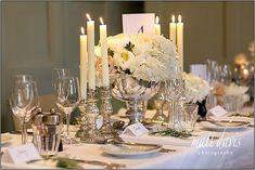 Barnsley House Wedding Flowers ~ White, Blush and Mercury Silver Glass