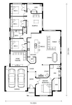 The Drysdale by Aspire Homes - New Contemporary home design 4 beds 2.00 baths 2 car garage up to 30.27 squares