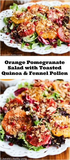Orange Pomegranate Salad with Fennel Pollen and Toasted Quinoa ...