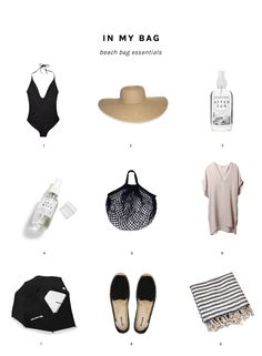 My favorite beach bag essentials. Living by the beach has made my beach day packing into a science!