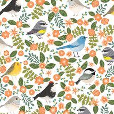 How cute is this Birdie Giftwrap?! #Bird #Flower #Giftwrap