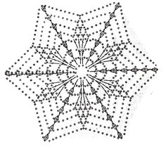 unit flower illustration - Her Crochet Crochet Snowflake Pattern, Crochet Lace Edging, Crochet Stars, Crochet Motifs, Crochet Blocks, Crochet Snowflakes, Crochet Mandala, Crochet Diagram, Thread Crochet